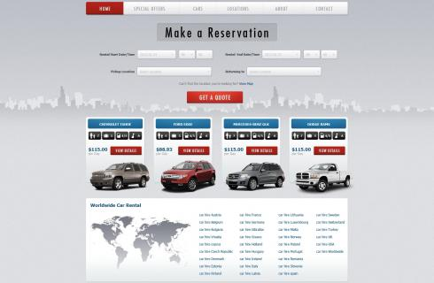Car Rental Websites >> Car Rental Templates Rent Ware Websites